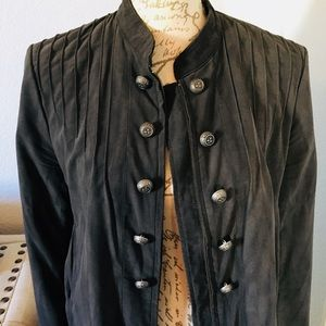 Free People gray suede Jacket
